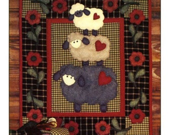 Wooly Sheep Wall Quilt Kit - Complete Kit - Rachel's of Greenfield - Applique