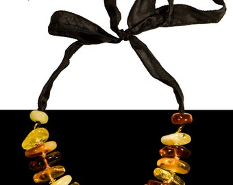 "Amber Necklace ""BonBon"""