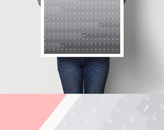 Daily Organizer 2017 Planner Printable Calendar Monthly Calendar Weekly Planner Office Calendar Minimalist Design Weekly Schedule Poster