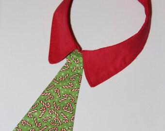 Candy Cane Dog Neck Tie