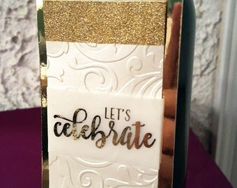 Wine bottle tag | Bottle tag | Gift tag | Let's celebrate