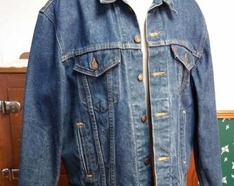 Vintage Levi's Jean Jacket Trucker Jacket 70506 0216 Classic Denim Jean Jacket 44