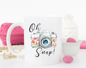 Oh Snap mug, Photography Gift, Photographer Gift, Photography Gifts, Photographer, Photography Mug, Photographer Mug , Coffee Mug, AAA_001