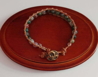 Assorted Jasper Wrap Bracelet