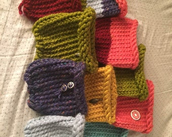 crochet knit cup cozies