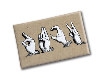 F*CK Sign Language Magnet | ASL Swear Magnet | Gift for Crazy Friend | BIrthday gift for Girlfriend | Sassy Gif | Weird Gift