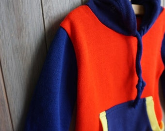 1980s Tricolor Hoodie - Size 4T