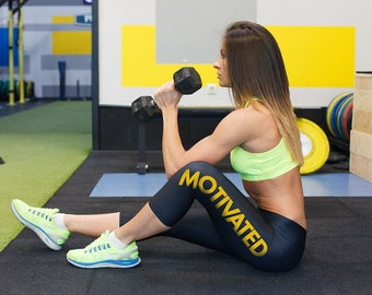Capri Leggings, Gym Leggings, Spandex  Leggings, Printed Leggings, Motivational apparel, Workout outfit