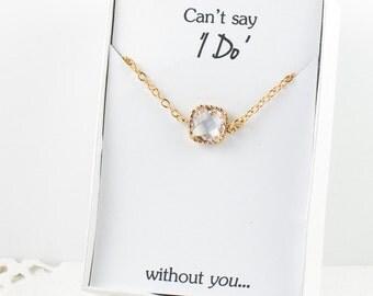 Crystal Gold Bracelet, Bridesmaid Clear Bracelet, Gold Bracelet, Crystal Wedding Accessories, Bridesmaid Bracelet, Bridesmaid Jewelry