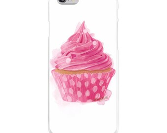 Cupcake Case, Pink Cell Phone Case, Cupcake Lover Gift, Candy Case, Pink Cell Phone, iPhone Case, Samsung Galaxy Case, Smartphone Case