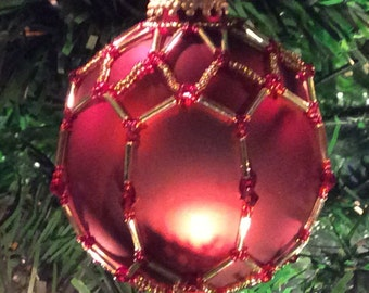 3 inch Hand Beaded Glass Ornament