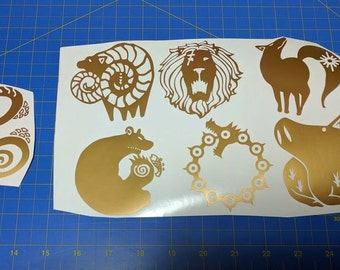 Seven Deadly Sins All 7 Decals