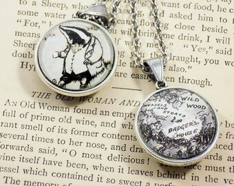 Wind in the Willows - Badger - 25mm Double-Sided Round Pendant