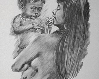 Print-Panama - Mother and Child series