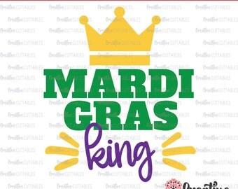 Mardi Gras King SVG Digital Cut File