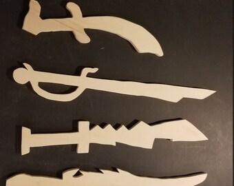 Homemade wooden sword