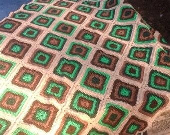 Earth Crochet Blanket