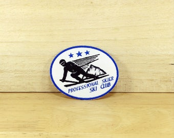 Professional Skier with Ski Club - Iron on Patch