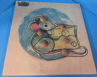 Mouse Puzzle (6 pieces) Woodland collection