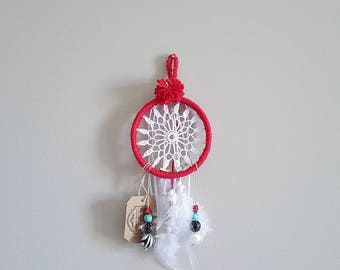 Mini Doily Dreamcatcher, Car Ornament