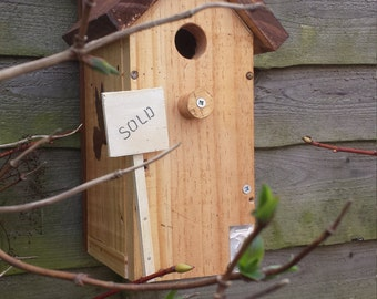 Charming Rustic/Shabby Chic Hand Crafted Bird House/Nest Box