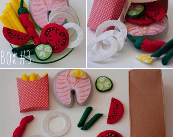 Felt Food, Play food, Play Kitchen Food, Felt toys, Play kitchen set, Felt food set, Birthday gift,Baby gift,Baby toy,Food kit,gift for kids