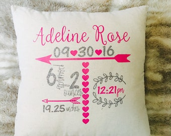 Personalized Announcement Pillow Case
