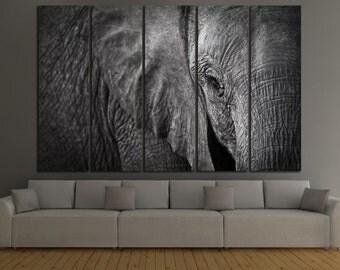 Elephant Canvas Print Elephant Wall Art Elephant Wall Decor Elephant Panel Art Elephant Canvas Art Elephant Home Decor Elephant Canvas Set