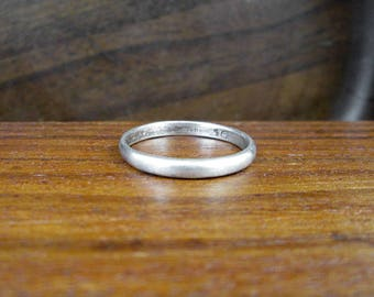 Sterling Silver Wedding Band - Size 7.5 - Vintage