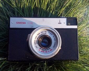 "Vintage Camera ""SMENA"", Vintage Working Camera, Retro Camera, 35 mm Camera, Russian Camera, Old Camera, Camera with Case."