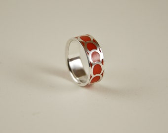Sterling Silver, Circles Pattern Ring