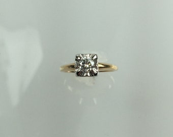 Vintage 1950's diamond ring .37ct
