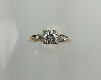 Vintage 1950's diamond ring .50ct