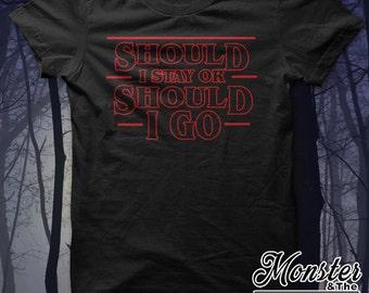 Should I Stay Or Should I Go Ringspun T-Shirt