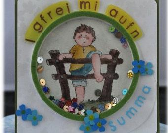Shaking map / birthday / birthday / boy / Bavarian / greetings / child's birthday / greeting card / Bavarian / envelope