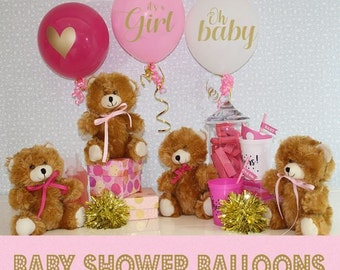 Baby shower balloons - Its A Girl {Set of 3} Baby Shower Decorations