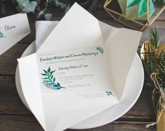 Wedding invitations | Origami invitations | Custom invitations | Unique invitations | Wedding stationery | Elegant invites | Yorokobi fold
