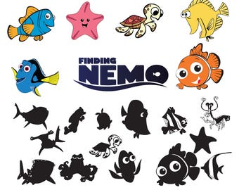 Finding nemo svg Nemo ,png,jpg,eps for Print/ Silhouette Cameo/Cricut and Many More