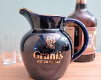 Vintage Whisky Jug - Grant's Whisky Jug - Vintage Whisky Flagon - Wade Water Jug - Whisky Pitcher - Scotch Pitcher - Advertising Barware