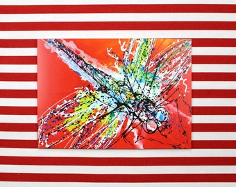 Dragonfly, Contemporary Blank Greetings Card, 5 x 7 inches