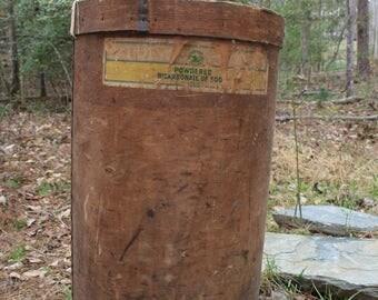 Vintage Wood Soda Barrel - Seed Barrel - Antique Baking Soda - Seed Tag - General Store - Old Advertising - Farmhouse Decor