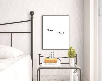 Sleepy Eyes - Wall Art, Home Decor, Bedroom Print