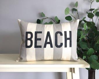 Beach Pillow, Decorative Pillow, Rustic Home Decor, Accent Pillow