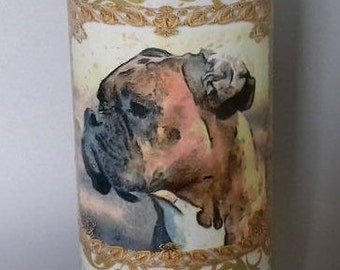 Decorated Boxer Dog Bottle