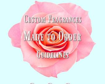 Bespoke Custom Fragrance Order - Please read guidelines