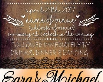 Rustic Wedding Invitation