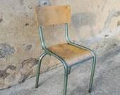 Danielle - Chaise d'écolier vintage Mullca