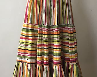 1940s Colorful Striped Skirt