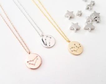 Zodiac Jewelry Constellation Necklace Birthday necklace, The stars align,Celestial jewelry, Star Sign, Zodiac gifts
