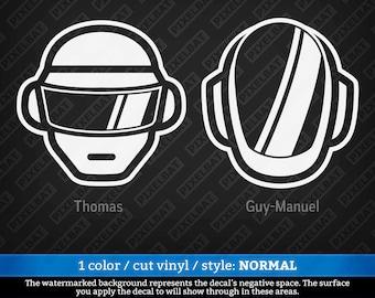DAFT PUNK Helmet Vinyl Decal Sticker For Macbook Laptop Tablet Phone Car Window Windshield Glass Bumper / Free Shipping Offer